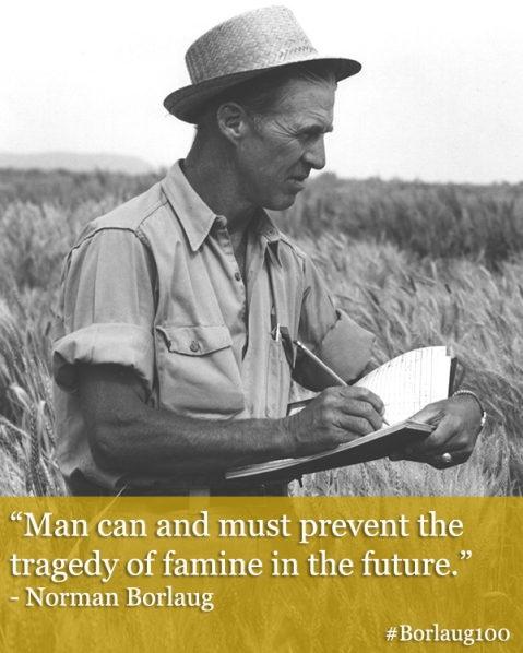 Borlaug100_must prevent tragedy